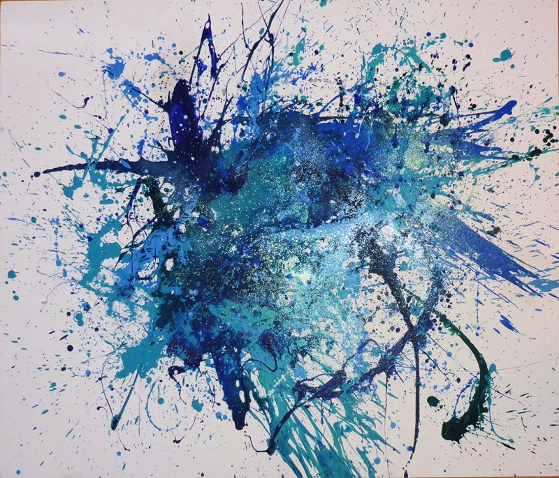 Abstract-blue-splash